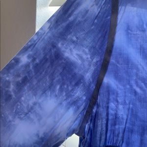 Vibrant Heart Tops - Chic tunic tie dye blouse shirt- ski blue- SZ 1X